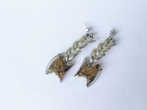 シルバーリーフピアス vintage earrings leaf SV <PE5 -L19>