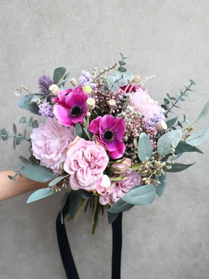 【Rental】No5 purple anemone bouquet