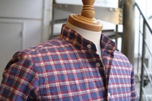 CARLO カシミヤタッチバンドカラーシャツ (#7865)