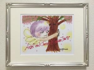 Ang22(大衣サイズ)エンジェルと桜の木