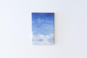 夜空と湖を描いた、ファブリックボード