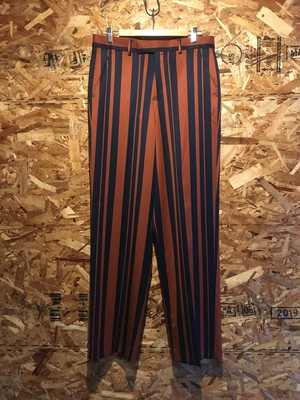 thick and thin stripe trousers