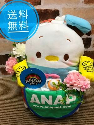 おむつケーキ/オムツケーキ/ANAP/アナップ/出産祝い/誕生祝い/お祝い/ディズニー/ツムツム/つむつむ/おむつベビーカー/おむつバイク