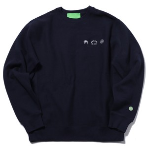 MISTER GREEN TRIFECTA CREW NECK SWEATER(NAVY)