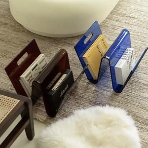 acryl w magazine rack 2colors / アクリル W マガジンラック クリア 韓国 北欧 インテリア 雑貨