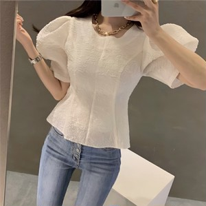 puff sleeve tops 2color