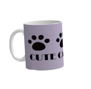 CUTE CAT CLUB マグカップ(ラベンダー)