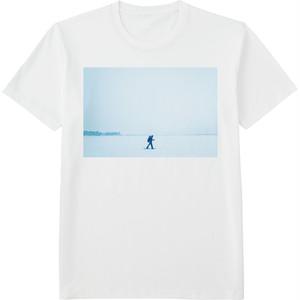 89.Finland100 Tシャツ / 吹雪をゆく