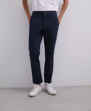 ELASTIC COTTON CHINO TROUSERS [168561259111]