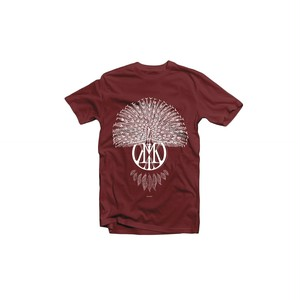 Peacock Tee (Wine Red)