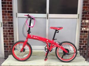 アルファロメオ「20inch.折りたたみ自転車」(Red)