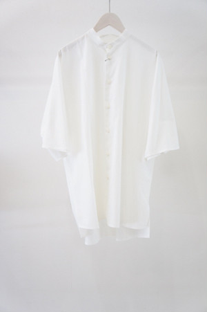 standcollar shirt -WHITE- / VUy