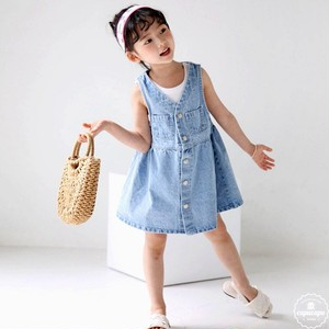 «sold out»«ジュニアサイズ» bubble kiss denim one piece デニムワンピ