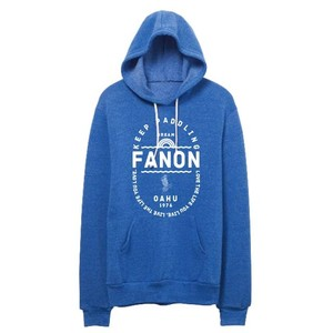 [MAN] KEEP PADDLING FLEECE HOODIE -PACIFIC BLUE-