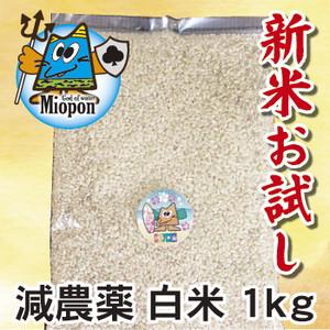 【減農薬】白米ヒノヒカリ1kg 大分県産・日田よりお届けします!