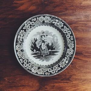 Creil グリザイユ皿