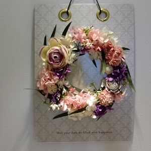 canvas wreath *pink
