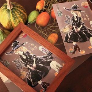 ポストカード『秋の魔女』