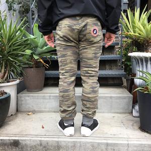 SWEET PANTS SWEAT SLIM PRINT PANTS KHAKI
