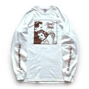 Season of love Long T-shirts ( White Brown )