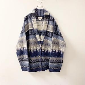 Coldwater Creek アメリカ製 ウールジャケット ブルー系 size L メンズ 古着
