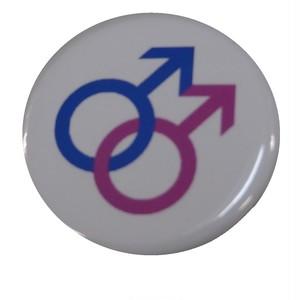 プライドフラッグ缶バッジ〈ゲイサイン/Gay Sign〉