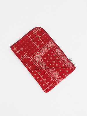 RESOUND CLOTHING (リサウンドクロージング) WEST COAST BANDANA POUCH / RED RC17-BAG-004-2