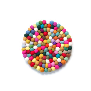 Felt Ball Pot Mat / Colorful