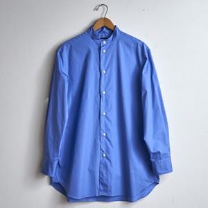 【the Sale!  30%off 】LOEFF ロエフ コットンブロード バンドカラーシャツ  コバルトブルー(レディース)