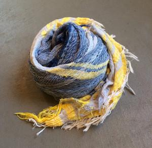 "【tamaki niime タマキニイメ】 ""roots shawl cotton"" (big) 001"