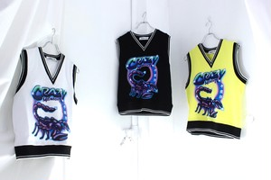 【GROUND ZERO】SCORPIO BRUSH PRINT VEST
