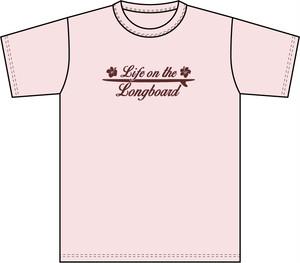Life on the LongboadオリジナルTシャツ:デザインC(ライトピンク)