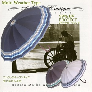傘 レディース 晴雨兼用 グラス骨16本骨手開き 50cmショート 雨傘 ノルディック柄 頑丈 UVカット99%以上 遮熱効果 ブラックコート加工 強力防水