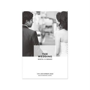巻き三つ折り席次表[CHIC&STYLISH] 長方形(10部¥11,000〜) | 結婚式・ウェディングペーパーアイテム・海外風・カリグラフィー