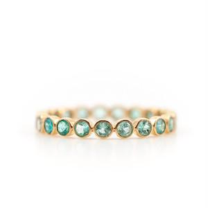 Paraiba tourmaline eternity ring