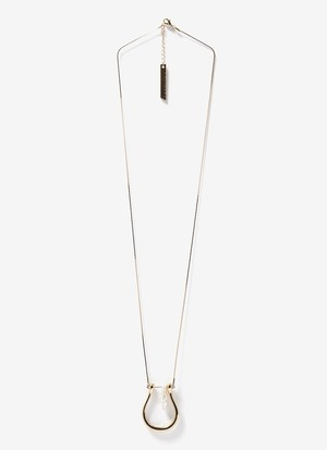 LONG NECKLACE WITH HORSESHOE AND PEARL