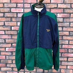 1990s Reebok Nylon Jacket Green/Navy Large