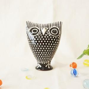 438 リトアニア 陶器の笛/フクロウ