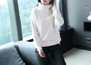 これ1枚で暖か☆厚手で袖が長めのプルオーバーセーターコート
