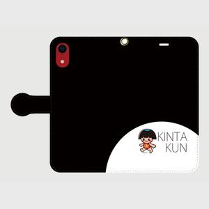 手帳型ケースiphoneXR用 ブラック