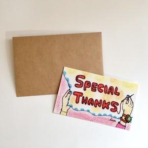 封筒付きメッセージカード【Thanks】