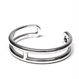 Hermès Vintage Sterling Silver H Motif Bangle