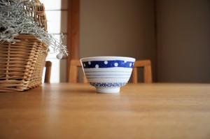 砥部焼/お茶碗/三種ボーダー/皐月窯