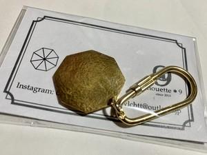 真鍮八角形キーホルダー