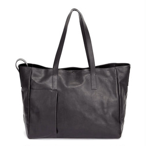 174ABG01 Leather tote bag 'grande poche' 2 トートバッグ