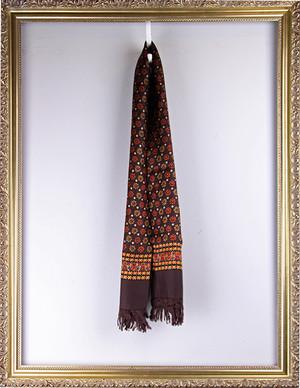 Vintage Scarf -Brown ヴィンテージ 花柄スカーフ