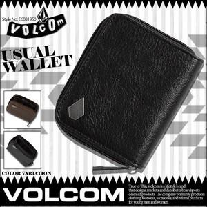 E6031950 ボルコムボルコム 財布 人気 ブランド ギフト ユニセックス ウォレット コインケース 二つ折り 選べる 2カラー 黒 ブラウン プレゼント VOLCOM