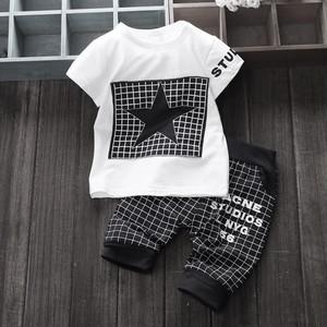 100/110サイズ ★モノトーンTシャツ&パンツセット(ブラック)