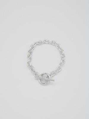 single chain bracelet silver