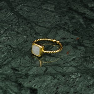 SINGLE MINI STONE RING GOLD 027